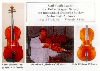 Carl Smith Thanks The International Draesesk Society, the Berlin State Archives, Ronald Hudson, and Virginia Abdo - Wagner Society of Dallas, March 26, 2005